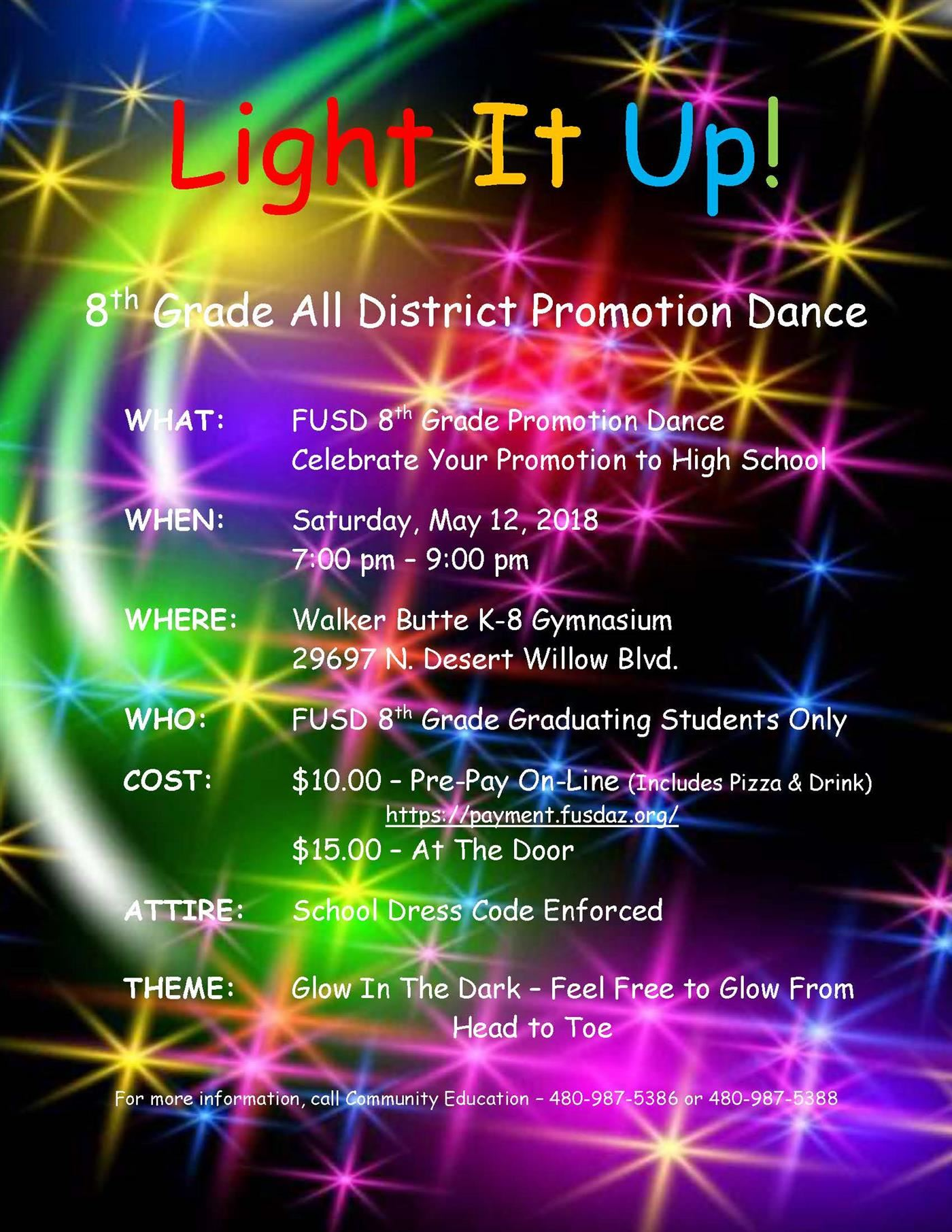 8th Grade Promotional Dance Flyer