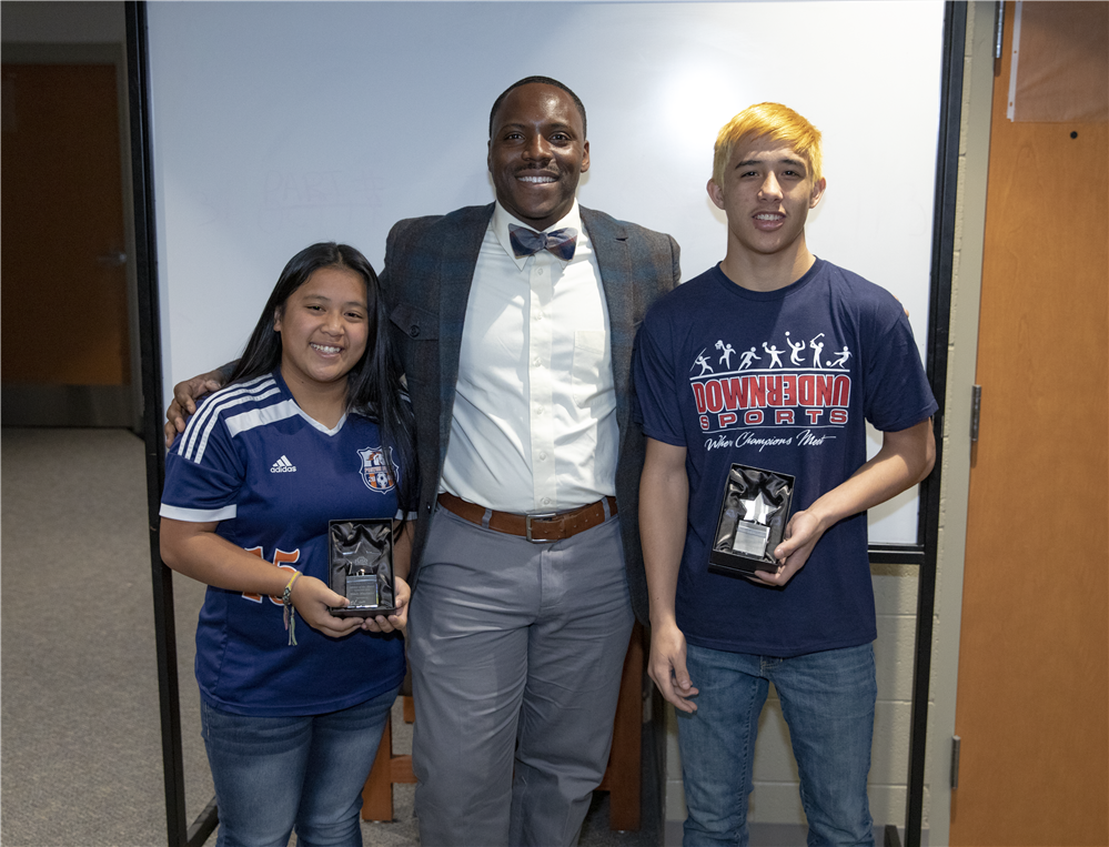 FUSD Athletes of the Month with San Tan Barber Shop.