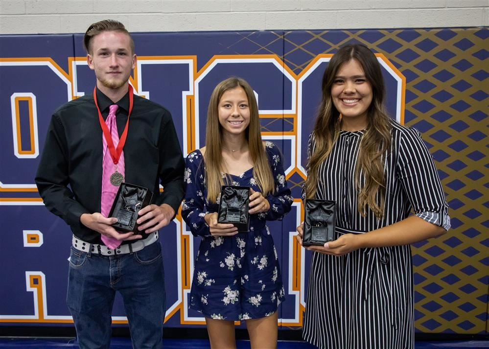 Trevyn Badger, Elisia Escanuela, and Lindsay Lopez - Athletes of the Year.