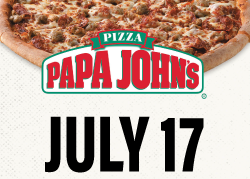Papa John's Fundraiser July 17th