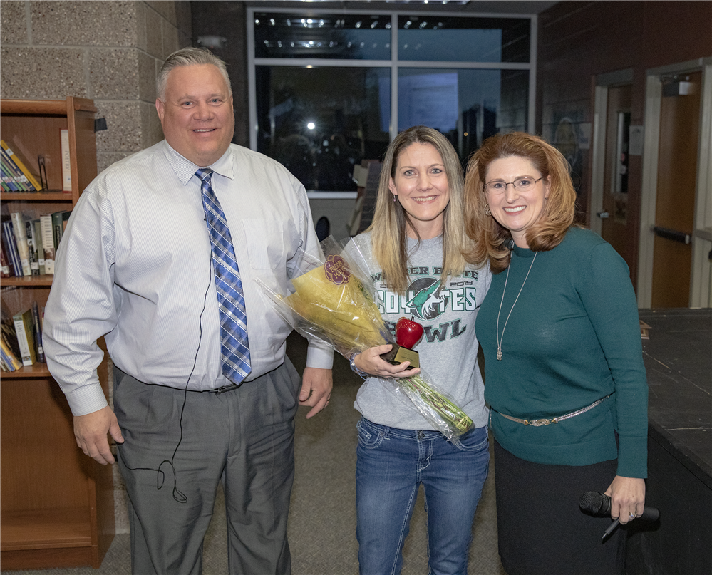 Certified employee of the Month, Lisa Schutz, from Walker Butte K-8 Leadership School.
