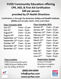 cpr class schedule image