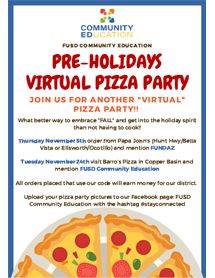 Pre-Holidays Virtual Pizza Party