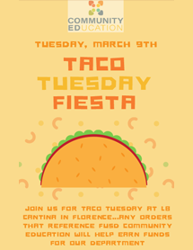Taco Tuesday flyer icon