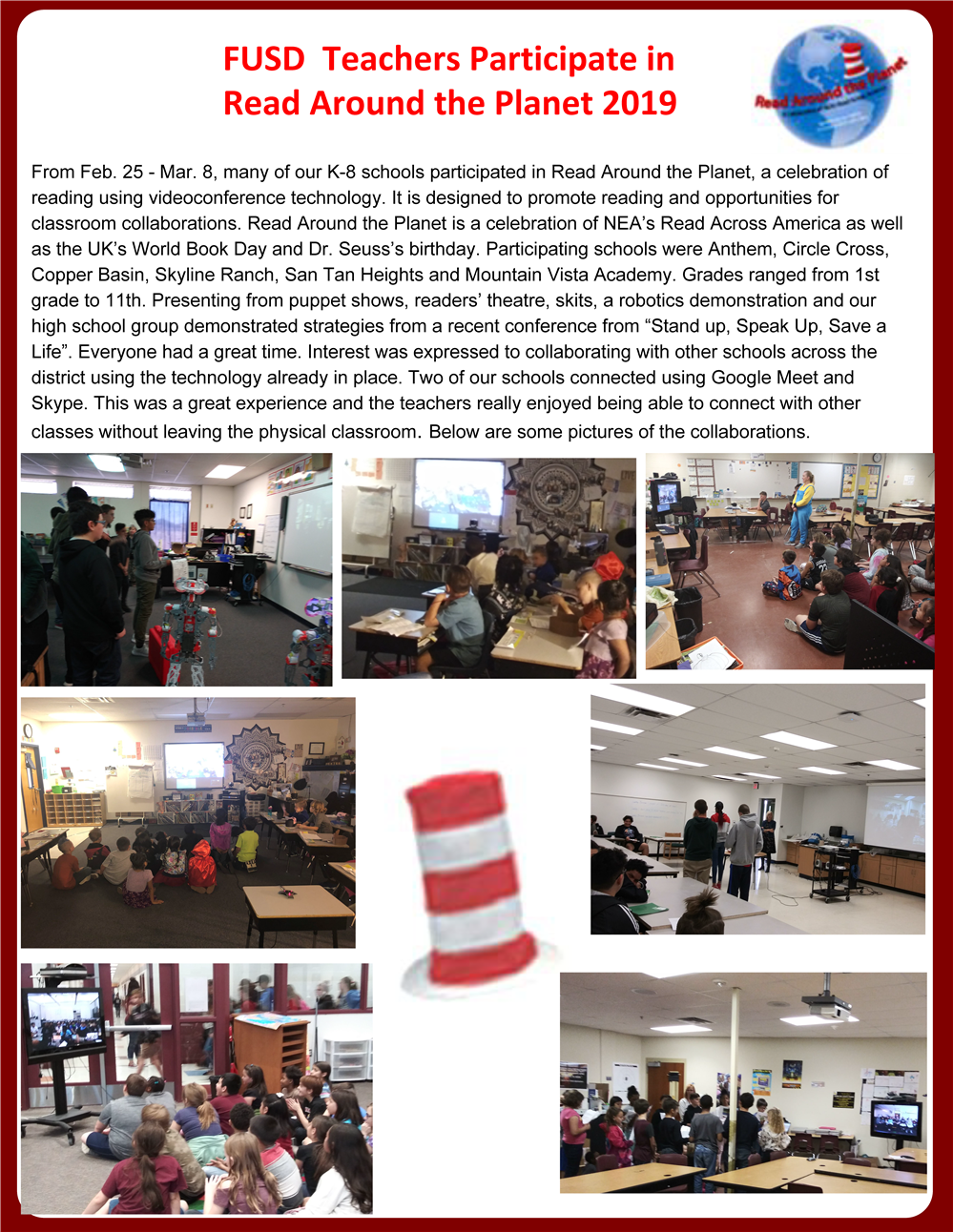 FUSD Teachers Participate in Read Across the Planet