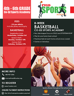 Florence Unified School District Sports Academy for 4th thru 6th grade students