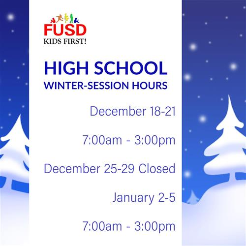 High School Winter Break Hours