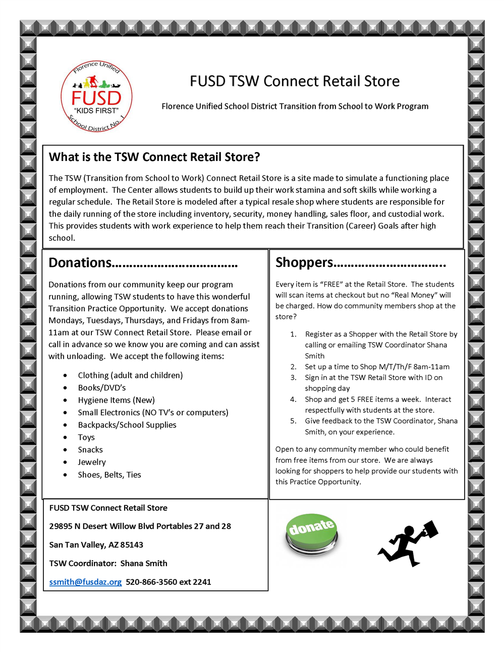 TSW Retail Store Flyer